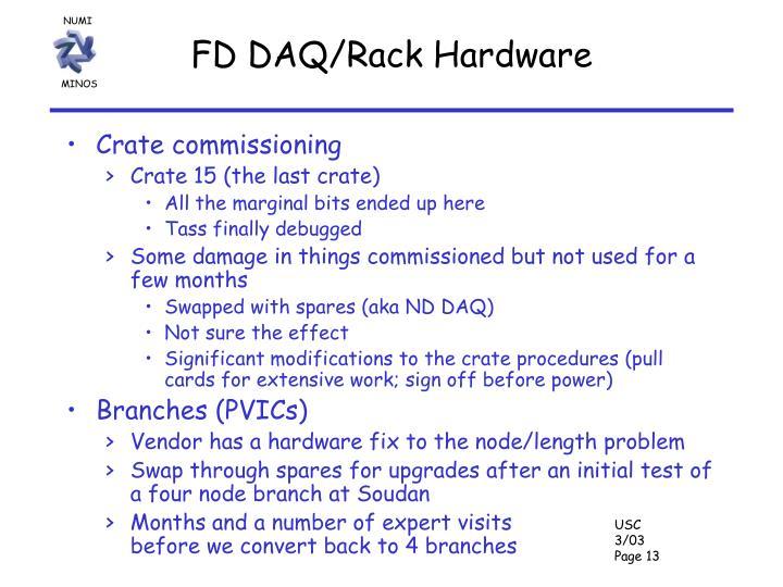 FD DAQ/Rack Hardware
