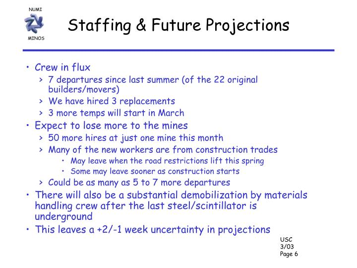 Staffing & Future Projections