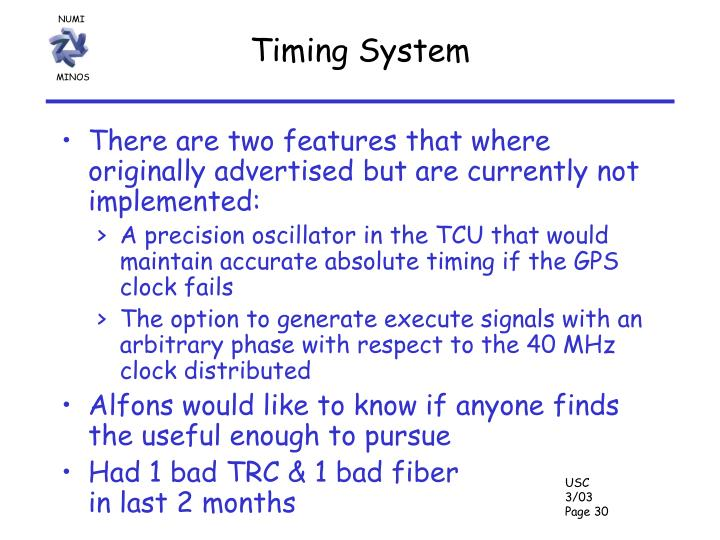 Timing System