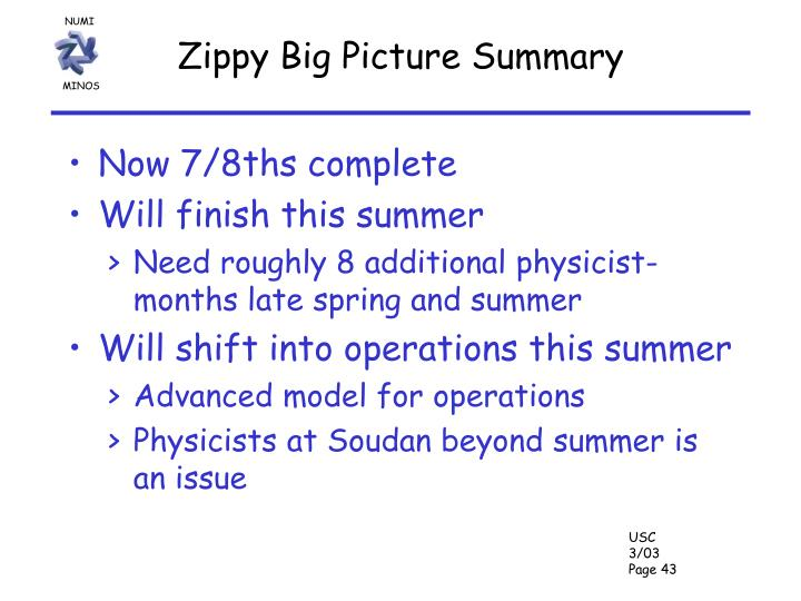 Zippy Big Picture Summary
