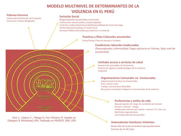 MODELO MULTINIVEL DE DETERMINANTES DE LA