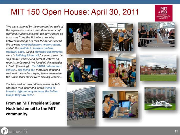 MIT 150 Open House: