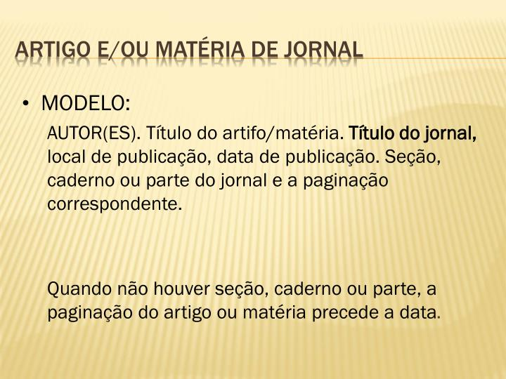 MODELO: