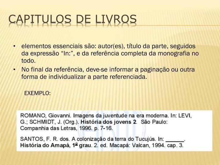 CAPITULOS DE LIVROS