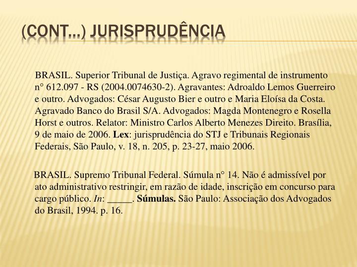 (Cont...) Jurisprudência