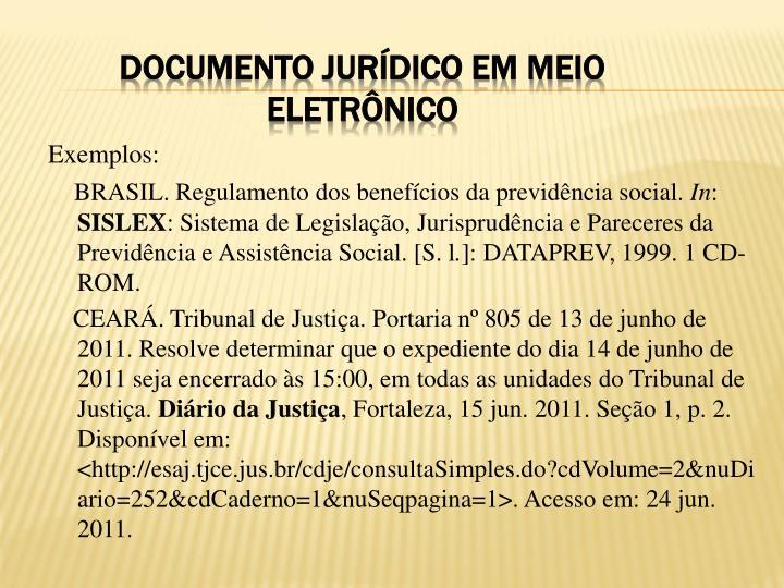 Documento jurídico em meio eletrônico