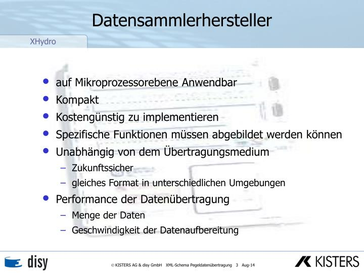 Datensammlerhersteller