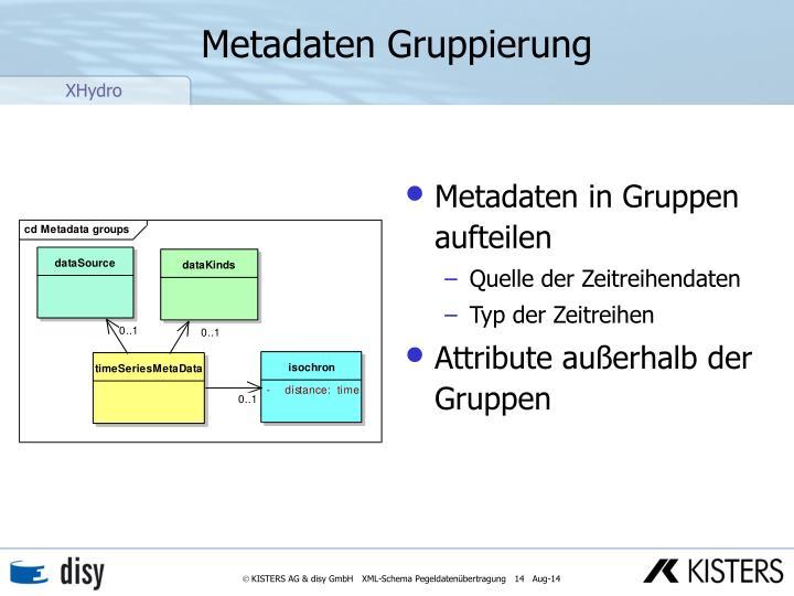 Metadaten Gruppierung