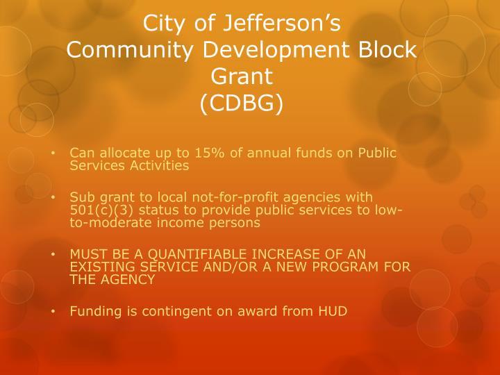 City of Jefferson's