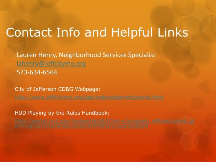Lauren Henry, Neighborhood Services Specialist