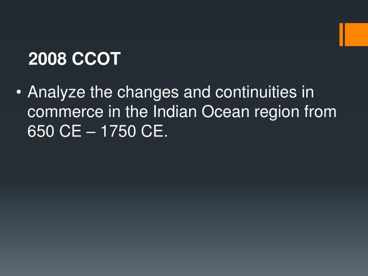 2008 CCOT