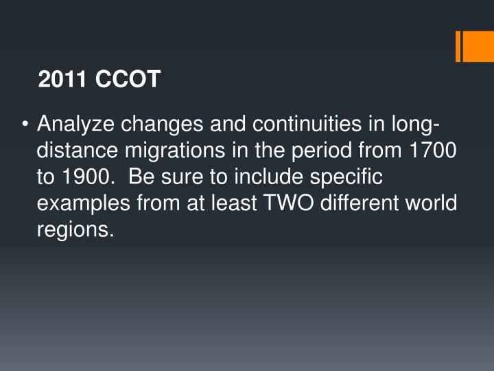 2011 CCOT