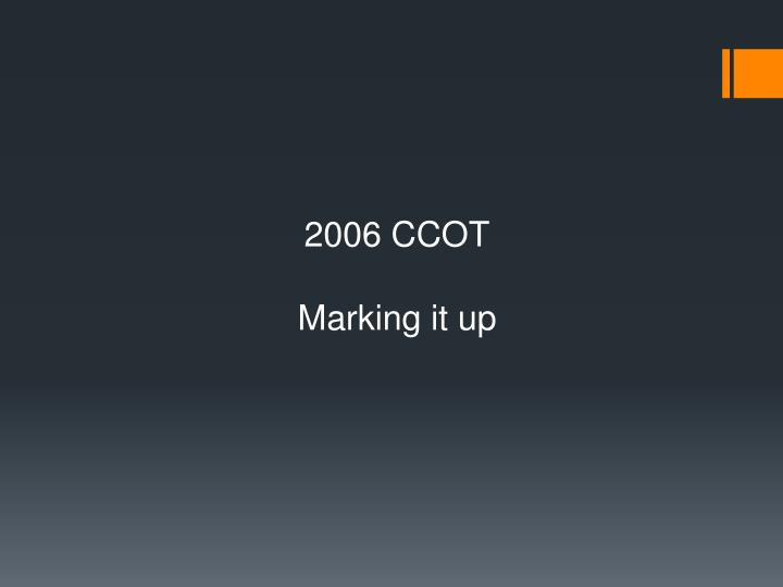 2006 CCOT