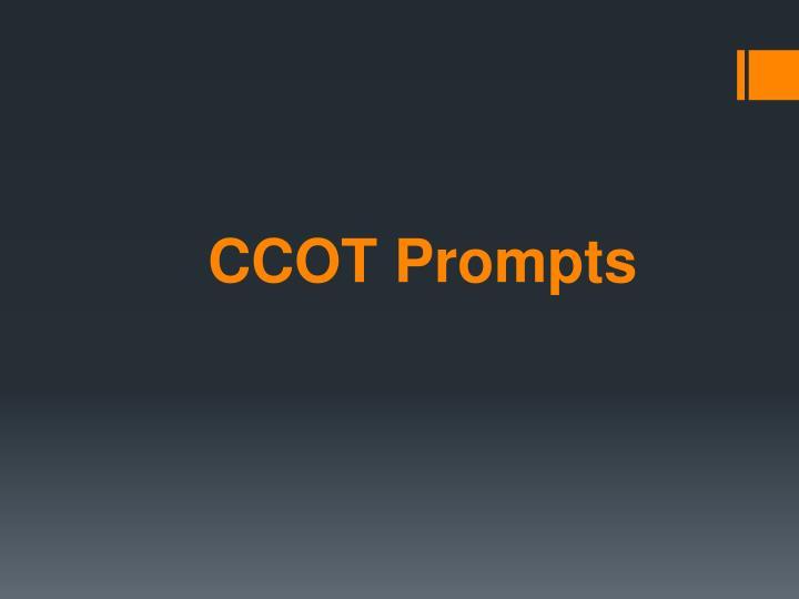 CCOT Prompts