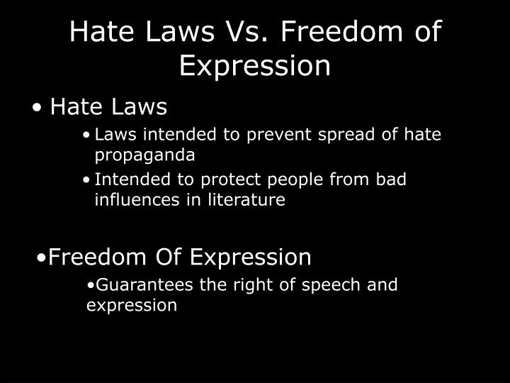 Hate laws vs freedom of expression
