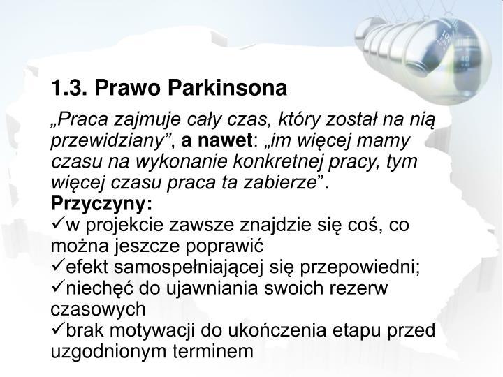 1.3. Prawo Parkinsona