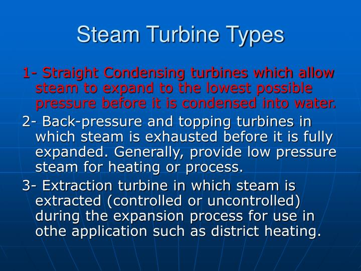Steam Turbine Types