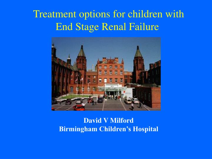 Treatment options for children with