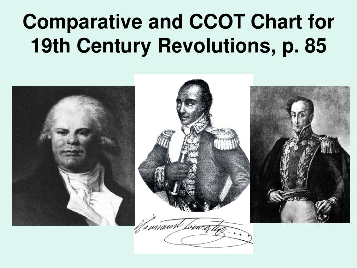 Comparative and CCOT Chart for 19th Century Revolutions, p. 85