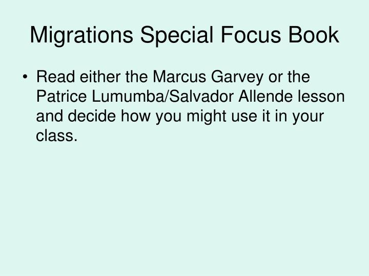 Migrations Special Focus Book