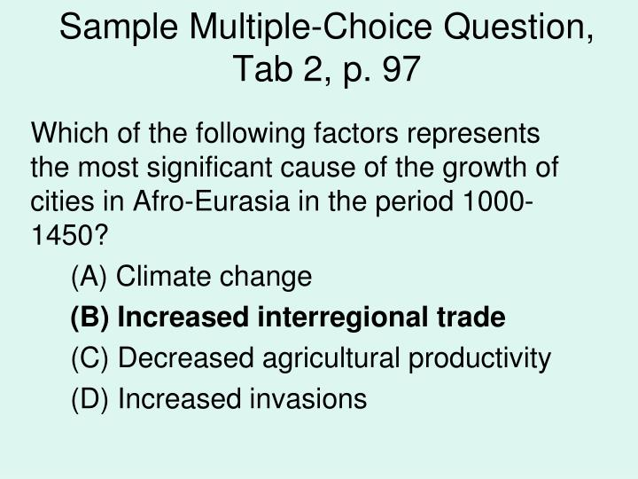 Sample Multiple-Choice Question,