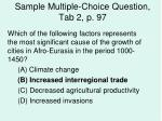 sample multiple choice question tab 2 p 97