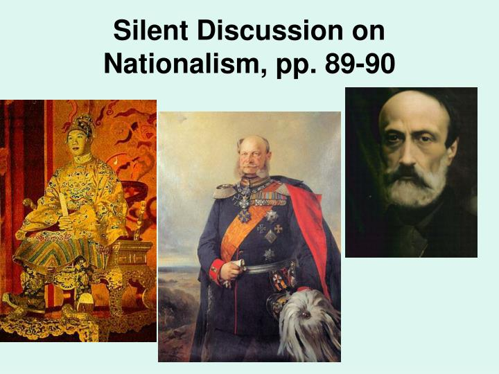 Silent Discussion on Nationalism, pp. 89-90