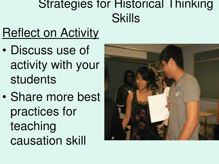 Strategies for Historical Thinking Skills