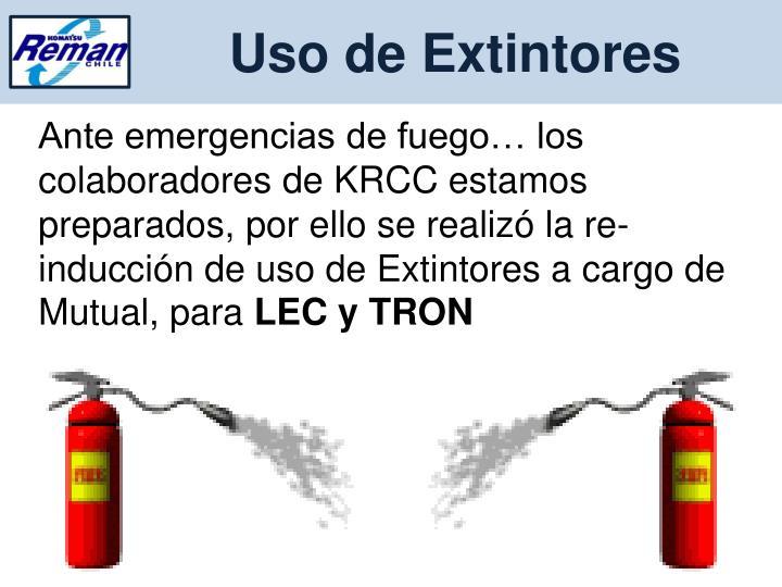 Uso de Extintores