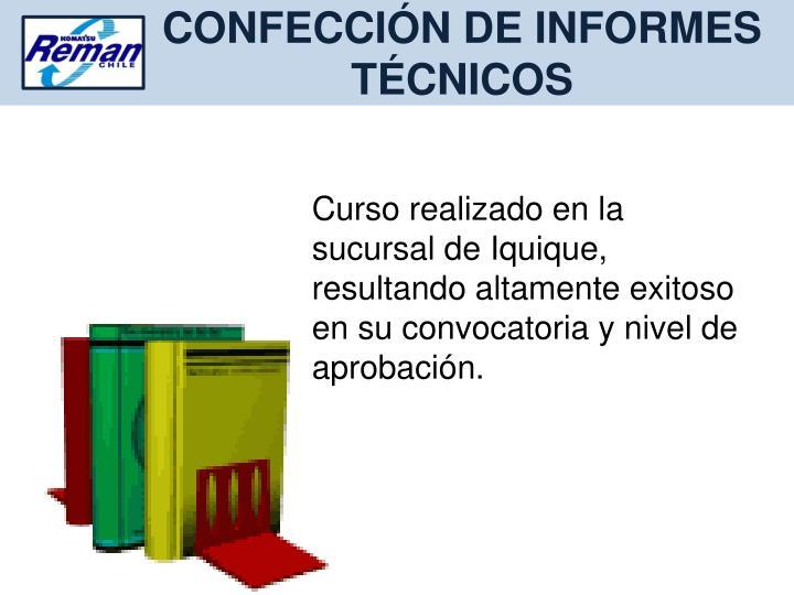 CONFECCIÓN DE INFORMES TÉCNICOS