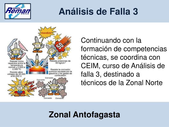 Análisis de Falla 3