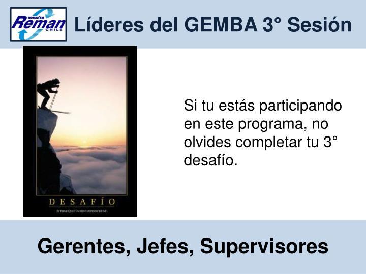 Líderes del GEMBA 3° Sesión