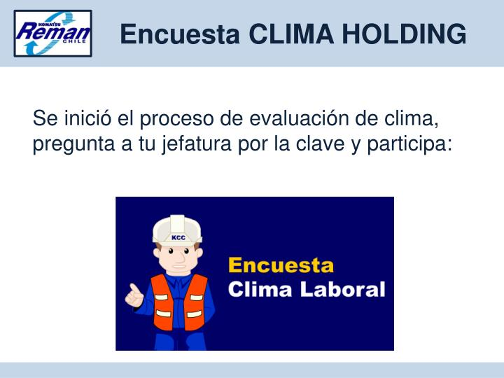 Encuesta CLIMA HOLDING