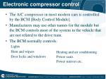electronic compressor control