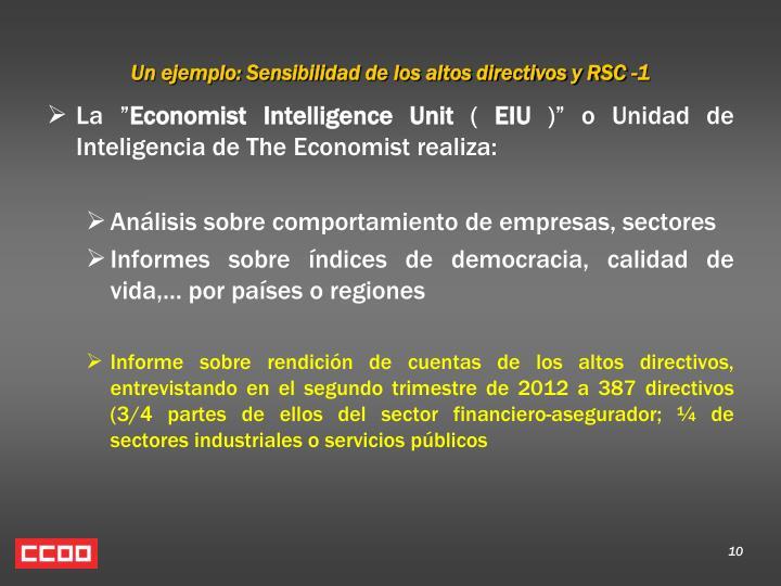 Un ejemplo: Sensibilidad de los altos directivos y RSC -1
