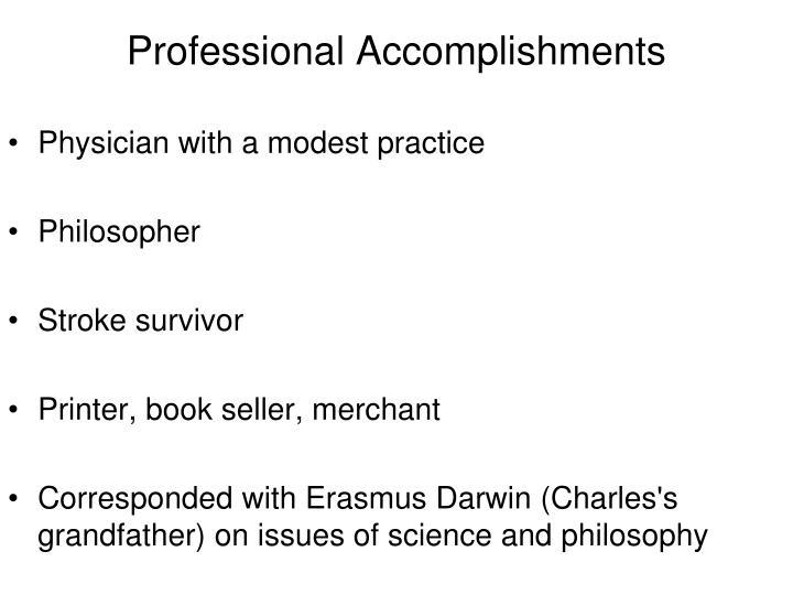 Professional Accomplishments
