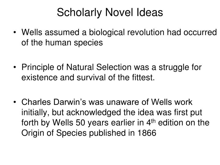 Scholarly Novel Ideas