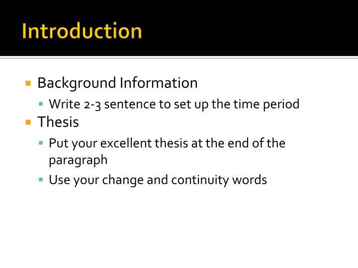 sentence time essay
