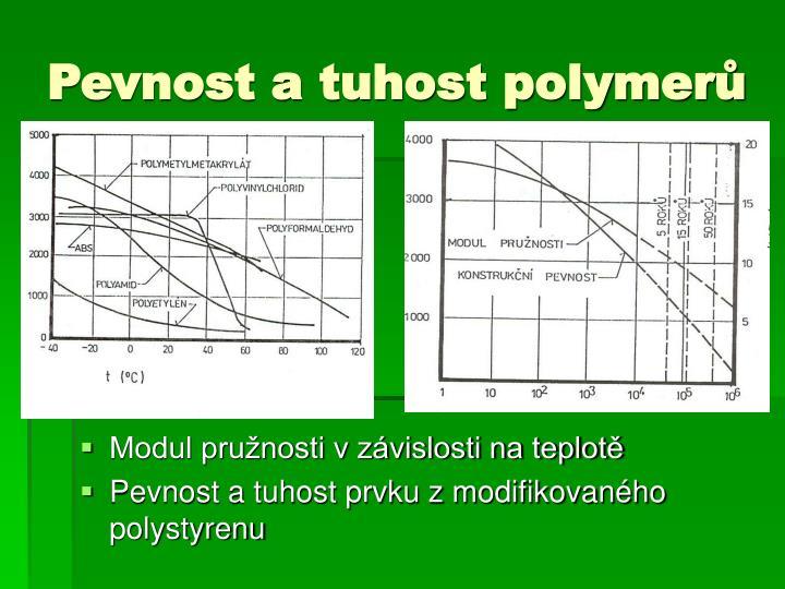 Pevnost a tuhost polymerů