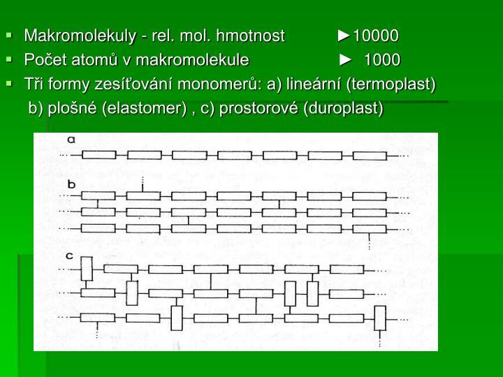 Makromolekuly - rel. mol. hmotnost