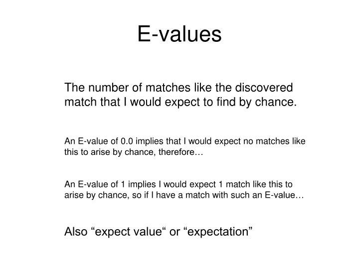 E-values