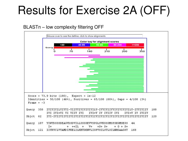 Results for Exercise 2A (OFF)