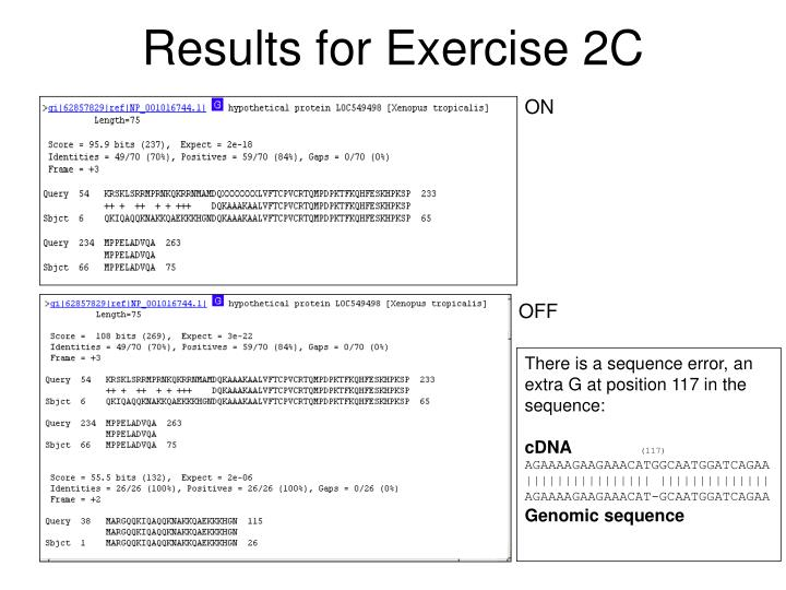 Results for Exercise 2C