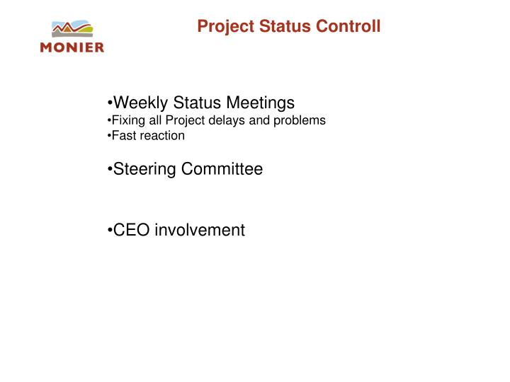 Project Status Controll