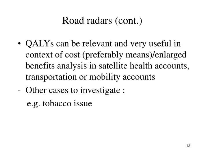 Road radars (cont.)