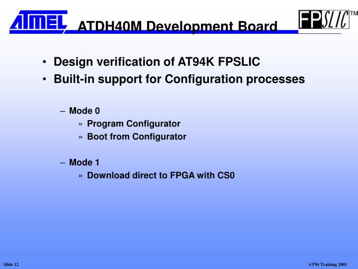 Design verification of AT94K FPSLIC