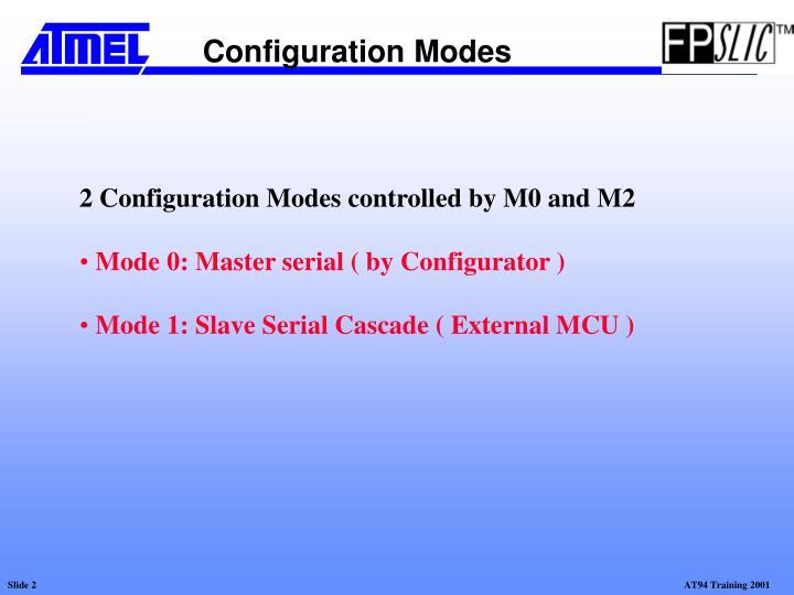 Configuration Modes