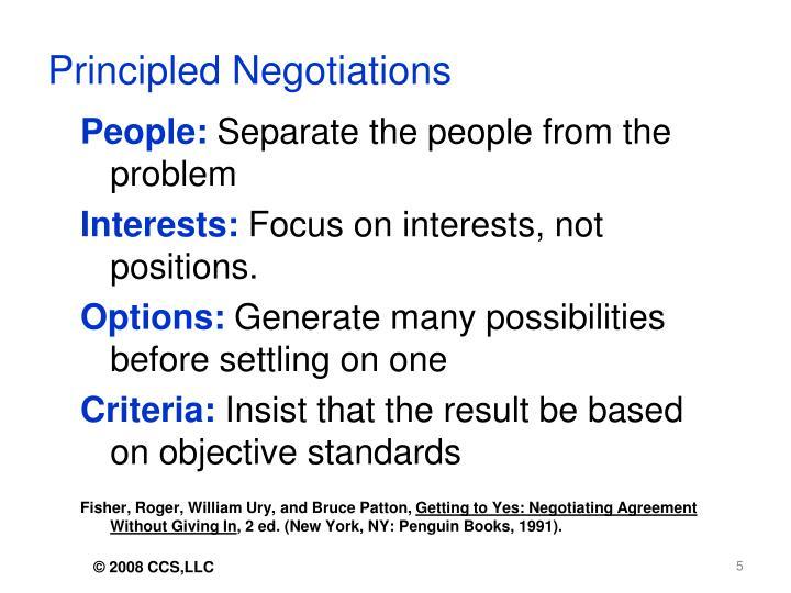 Principled Negotiations