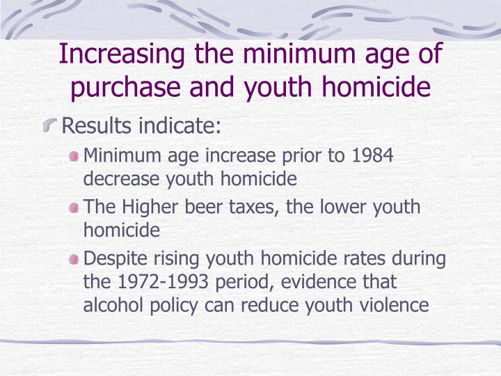 Increasing the minimum age of purchase and youth homicide