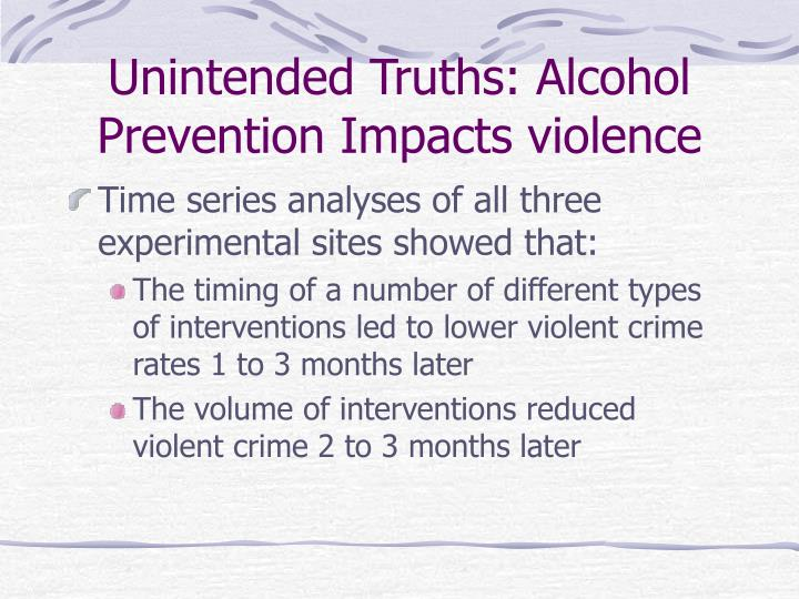 Unintended Truths: Alcohol Prevention Impacts violence